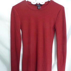 FOREVER 21, small, burgundy knit dress, BNWT